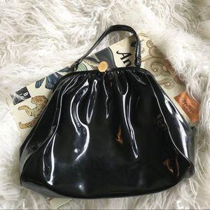 Koret vintage black patent leather look handbag